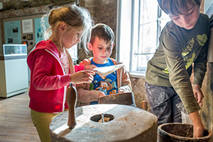 Children in the Windmill Museum